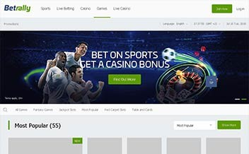 Screenshot 1 Betrally Casino