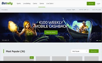 Screenshot 2 Betrally Casino